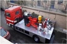 تغییر کاربری و بازسازی خودروی پیشرو آتش نشانی به تریلر پمپ