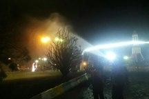آتش سوزی شهربازی کرمان مهار شد