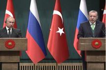 نشست مطبوعاتی مشترک پوتین و اردوغان: روسیه و ترکیه درباره قدس همعقیده هستند
