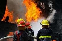 آتش سوزی درخط لوله فاز٢٠ و٢١ پارس جنوبی مهار شد