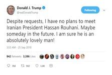 توییت ترامپ در خصوص دیدار با روحانی