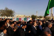 پیکر شهید تازه تفحص شده در باقرشهر تشییع شد