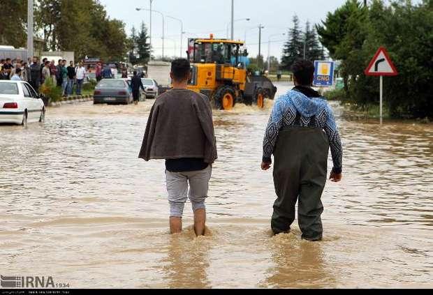 سیل در استان گیلان
