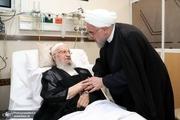 عیادت رئیس جمهور روحانی از آیت الله العظمی مکارم شیرازی + عکس
