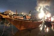 حادثه آتشسوزی لنج باری در تنگستان