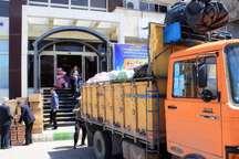 2 کامیون کمک جامعه ورزش یزد به لرستان ارسال شد