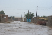 سیل بند یک روستای بخش مرکزی اهواز شکست
