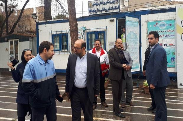 استاندار قزوین از مراکز امدادی و راهور بازدید کرد