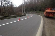 عملیات اجرای 1800 کیلومتر خط کشی در سطح جاده های مازندران