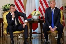 مجادله لفظی رهبران آمریکا و فرانسه و تمسخر ترامپ