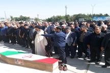 پیکر جانباز 70 درصد در تبریز تشییع شد
