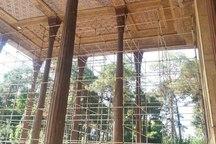 مرحله سوم مرمت ایوان کاخ چهلستون اصفهان آغاز شد