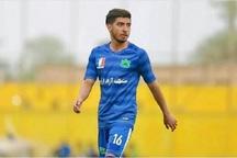 بازیکن تیم فوتبال امیدهای نفت آبادان در تصادف جان باخت