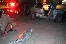 برخورد خودرو به تیر چراغ برق در اشنویه جان 2 نفر را گرفت