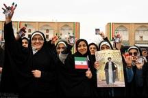 حضور زنان در راهپیمایی 22 بهمن چشمگیر بود