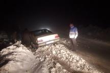 120 مسافر نوروزی از کولاک محور ایرانخواه تکاب نجات یافتند