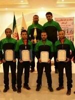 کسب مقام نخست مسابقات عملیات ورزشی آتشنشانان توسط تیم شهرداری کرج