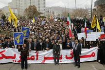 نمازگزاران زنجانی حمایت خود را از سپاه اعلام کردند