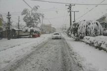 بارش 30 سانتی متر برف در روستاهای کوهستانی آمل
