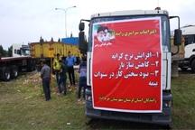 برخی از مطالبات کامیون داران معترض در لرستان برآورده شد