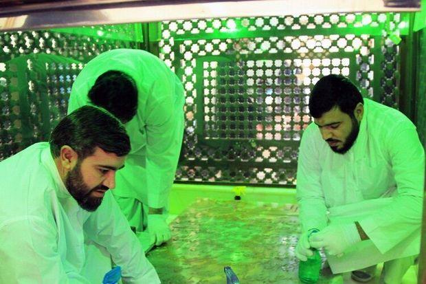 آرامگاه شهید مدرس در کاشمر غبارروبی شد