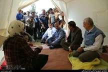 عیات و دلجویی ربیعی از مصدومان و خانواده جانباخته زلزله در خراسان شمالی