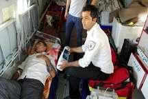 نجات 4 مادر باردار و 13مجروح بوسیله اورژانس هوایی سیستان و بلوچستان