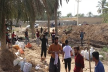 روستای ام الحجار شادگان تخلیه شد