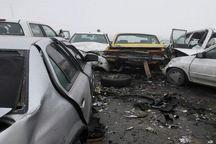 تصادف زنجیرهای خودرو در تربت حیدریه ۱۱ مصدوم بر جای گذاشت