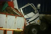 تصادف 2 کامیون در جاده پلدختر - کرمانشاه یک کشته برجا گذاشت