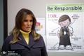 بازدید بحث برانگیز همسر ترامپ از یک مدرسه