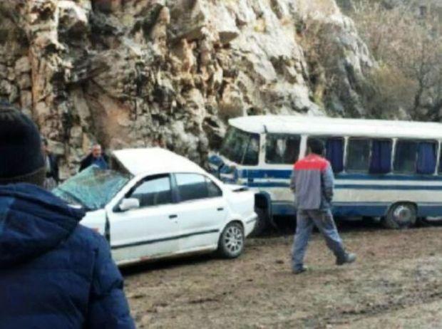 راننده سمند در تصادف رانندگی جاده هورامان جان باخت
