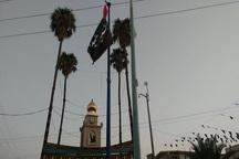 پرچم عزای سیدالشهدا (ع) در اندیمشک به اهتزاز درآمد