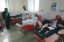 ۵۰ خادم یار رضوی در ایرانشهر خون اهدا کردند