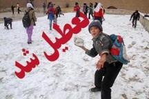 برف مدارس بخش کاکاوند دلفان را تعطیل کرد