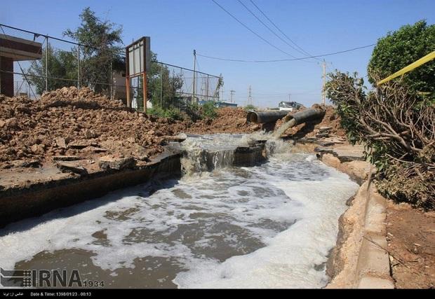 مشکل مکش منفی فاضلاب به شبکه آب اهواز در کنترل است