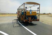 راهداری بیش از هزار کیلومتر از راههای کرمانشاه را خطکشی کرد