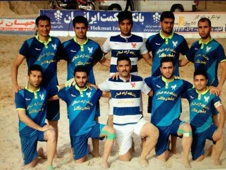 لیگ برتر فوتبال ساحلی ملوان بندرگز یاران نجف آباد را گلباران کرد