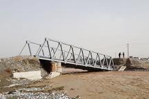 امروز پل موقت گلستانه سلیوانا بازسازی می شود