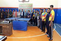 تیم رفسنجان قهرمان مسابقات تنیس روی میز دانشگاههای منطقه هشت کشور شد