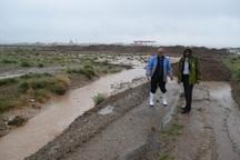 بارندگی در شهر حاجی آباد موجب روان آب شد