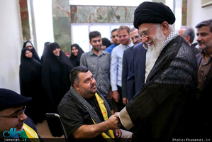 دیدار جانبازان حزبالله لبنان با رهبر معظم انقلاب