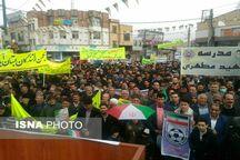 حضور پرشور مردم شهرستان بستان آباد در راهپیمایی ۲۲ بهمن
