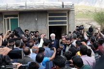 بازدید روحانی از مناطق سیل زده استان های لرستان و ایلام