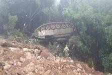 واژگونی یک تانک اسرائیلی در مرز لبنان+عکس