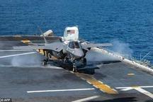 عکس/ اولین حادثه سقوط جنگنده F-35B آمریکا