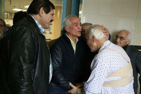 عباس جدیدی از پرویز عرب عیادت کرد+ عکس