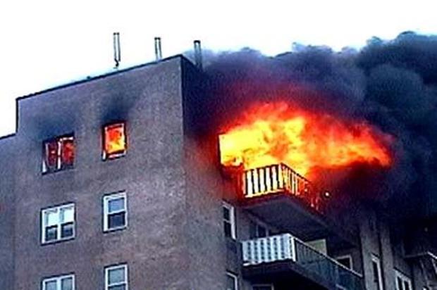 آتش سوزی در اراک یک مصدوم برجا گذاشت