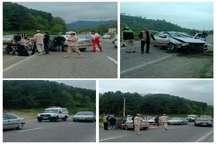 تصادف سه خودرو در محور آستارا به اردبیل دو مصدوم بر جا گذاشت