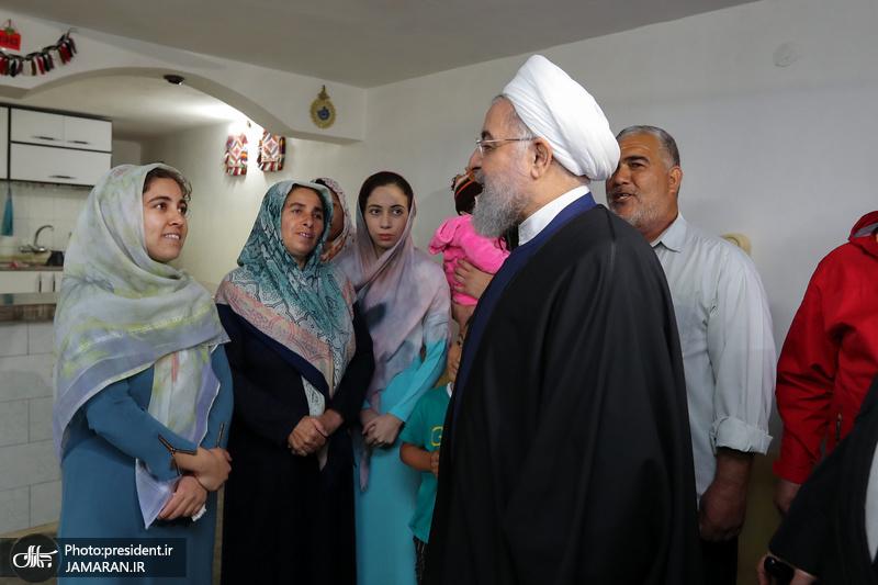بازدید رئیس جمهور از مناطق سیل زده استان گلستان